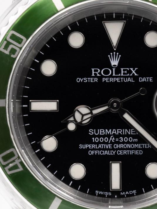 Rolex submariner fat four ghiera verde